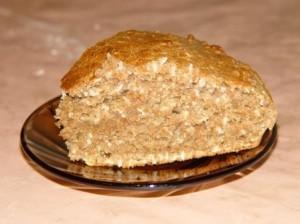 Вкусный и полезный цельнозерновой пирог с кокосовой стружкой.