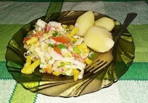 Овощной салат с репой (пошаговый рецепт с фото).