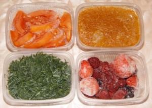 Замороженные витамины и минералы.