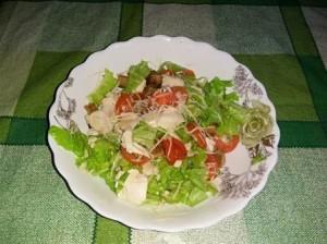 Салат «Цезарь» с курицей (пошаговый рецепт с фото).